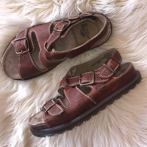"Dr. Martens leather sandals size 8"""